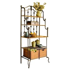 Addington Storage Baker's Rack in Walnut