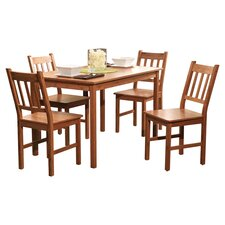 Aegina 5 Piece Dining Set in Natural