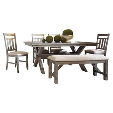 Turino 6 Piece Dining Set in Grey Oak