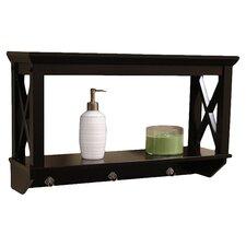 X-Frame Bathroom Wall Shelf in Espresso