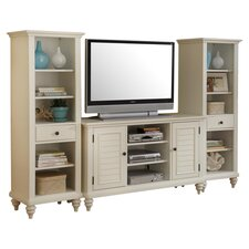 Bermuda Entertainment Center in Brushed White