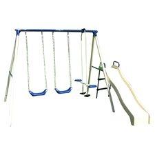 Swing N Glide Swing Set in Ivory & Blue