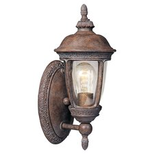 Knob Hill VX 1 Light Wall Lantern in Sienna