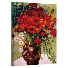 Red Poppies & Daisies Canvas Art by Vincent van Gogh