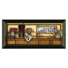 Country Kitchen Shelf Framed Wall Art by Mary Ann June