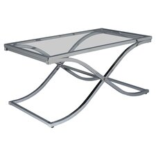 Logan Coffee Table in Chrome