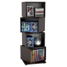 Clayton Multimedia Storage Rack in Espresso