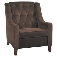 Curves Tufted Chair in Chocolate