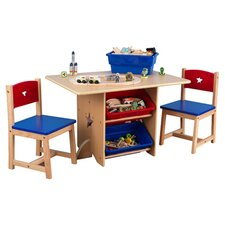 Star Kids 5 Piece Table & Chair Set in Natural