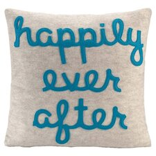 Happily Ever After Throw Pillow in Oatmeal & Turquoise