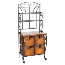 Storage Baker's Rack in Black