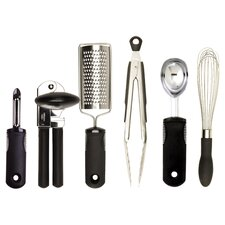 OXO 6 Piece Kitchen Essentials Set in Steel