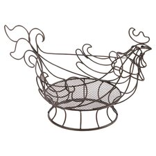 Rooster Wire Kitchen Basket in Bronze