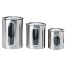 3 Piece Window Canister Set