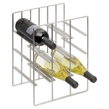 Pilare 8 Bottle Wine Rack in Nickel