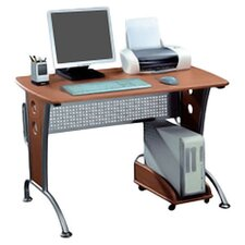 Space Saver Computer Desk in Honey
