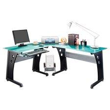L-Shaped Computer Desk in Black
