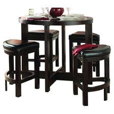 5 Piece Dining Set in Dark Cherry