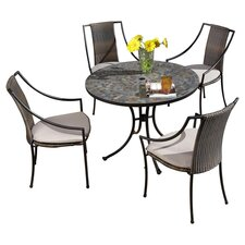 Harbor 5 Piece Dining Set in Stone