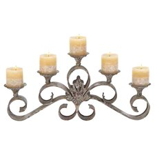 Acesi Metal Candelabra in Gray
