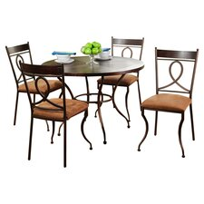 Café 5 Piece Dining Set in Espresso