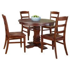 Aspen 5 Piece Round Dining Set in Cherry