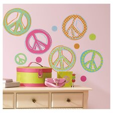 Price 26 Piece Peace Signs Wall Decal