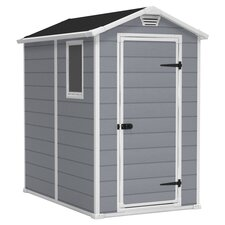 Manor Storage Shed in Grey