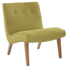 Mercer Modern Slipper Chair in Green