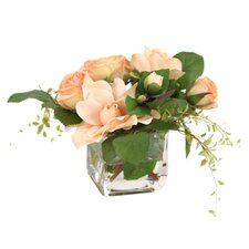 Rose & Gardenia Arrangement in Peach