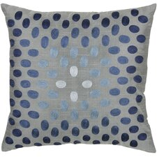 Jules Dot Pillow in Gray & Blue