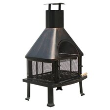 Fuoco Fire Pit in Rubbed Bronze