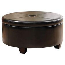 Winston Storage Ottoman in Black