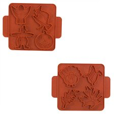 Reversible Cookie Cutter Sheet in Orange