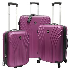 Belair 3 Piece Luggage Set in Plum