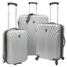 Belair 3 Piece Luggage Set in Silver