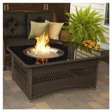 Naples Fire Pit Coffee Table in Brown