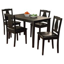 Kaylee 5 Piece Dining Set in Black