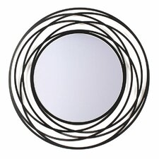 Fluent Metal Wall Mirror in Black