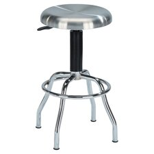 Matrix Adjustable Barstool in Stainless Steel