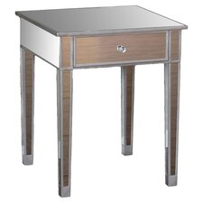 Hamilton Mirrored End Table in Silver