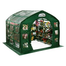 Farmhouse Clear PVC Greenhouse in Green