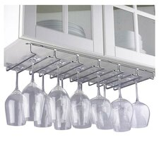 Boise Hanging Wine Glass Rack in Chrome