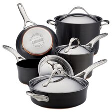 Anolon Nouvelle Copper 5 Piece Cookware Set in Black