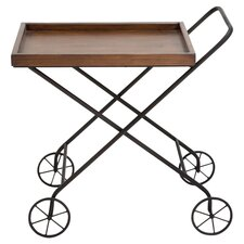Tea Serving Cart in Rich Brown