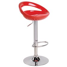 Swizzle Adjustable Barstool in Red