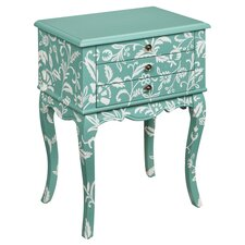 Estes 3 Drawer Chest in Teal & White