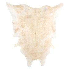 Natural Cowhide Full Skin Light Brindle 6' x 6' Rug