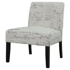 French Slipper Chair in Gray