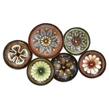 Toscana Assorted Plates Metal Wall Décor in Brown